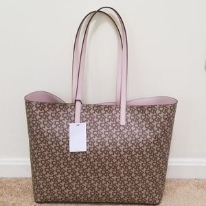 NWT! DKNY Monogram Reversible Open Tote